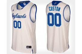 Kansas 00 Basketball Cream Jayhawks College Jersey Alternate Customized