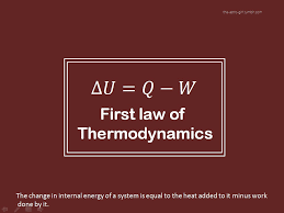 first law of thermodynamics thermo first law