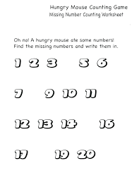 Kindergarten Counting 1 Worksheets Related Math To Number For ...