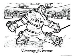 Hockey Goalie Nhl Coloring Pages Printable