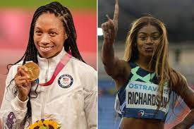 Sha'Carri Richardson appears to throw ...