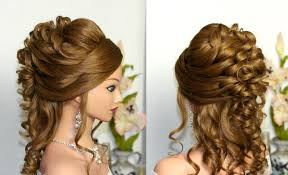 Elegant Prom Hair Style curly wedding prom hairstyle for long hair youtube 4370 by wearticles.com