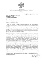 Montenegro Letter Of Intent To Join Ogp Open Government