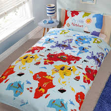 childrens kids little adventurer world map design single twin duvet