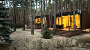 Contemporary Cabins Yod Design Labs Modern Cabins Mirror The Forest In Ukraine Youtube