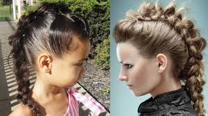 Mo Hock Hair Style hair tutorial faux hawk messy braid youtube 3624 by stevesalt.us
