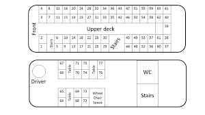 Coach Bus Seating Chart Seating Plan Berrys Coaches