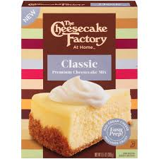the cheesecake factory at home cheesecake mix clic 9 5 ounce box walmart