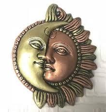 antique 6 metal sun moon ornament sun