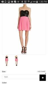 B Darlin Dress Size Chart Hot Pink Black Night Out Dress