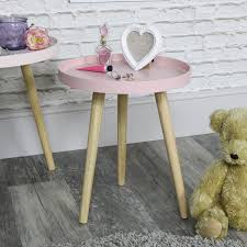 details about pretty round pink wooden side table shabby vintage chic living room furniture