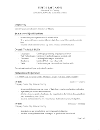 What Good Objective For Resume Great Objectives Resumes Lofty