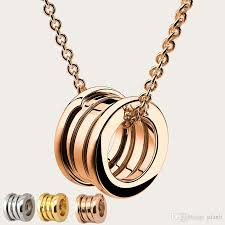 whole women luxury 18k gold sterling silver spring pendant necklaces with original box card women s rose gold brand necklace jewelry gold necklaces cat