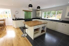 open plan traditional kitchen design idea