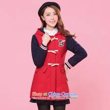 2016 new girls plain preppy winter clothing korean students in gross jacket long horns detained a