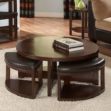 round coffee table with chairs furniture row top 10 adjule height wood 4 storage ottomans beauti