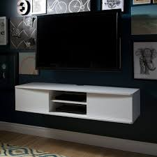 White Wall-Mounted Media Console (56 Inch) - Agora   RC Willey Furniture  Store