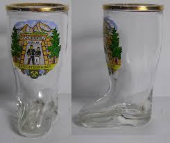 2 of 3 vintage berchtesgaden boot shaped shot glass 3538