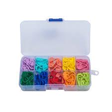 honana wx 101 120pcs plastic markers holder needle clip diy craft mini knitting crochet locking stitch cod