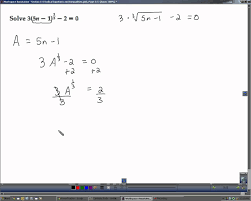 algebra 2 section 5 8 radical equations and inequalities