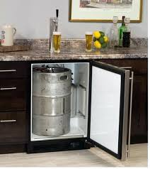 countertop keg dispenser marvel built in single tap beer dispenser solid smooth black door