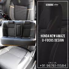 Honda Amaze Seat Cover Designs New Honda Amaze Get Covered With Seat Covers And Suiting