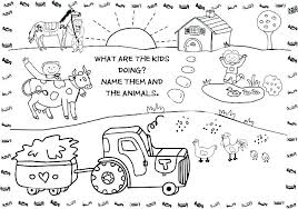 Farm Animal Coloring Pages For Preschoolers Farm Coloring Pages Farm