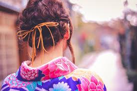 成人式2019振袖袴の髪型編み込みアレンジ