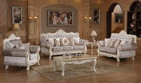 Traditional Living Room Sets 638 Venice Traditional Living Room Set In Rich Pearl White By