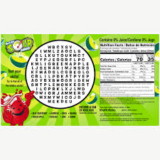 Green Apple Nutrition Chart Kool Aid Jammers Sours Green Apple Flavored Drink 10 Ct