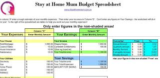 free download budget worksheet free downloadable budget spreadsheet stay at home mum