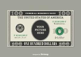 Design Your Own Dollar Bill Template 100 Dollar Bill Vector Template Download Free Vectors