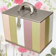 vanity case striped bo cosmetic bo makeup box vanity case synthetic leather cosmetic s put rosier and rosier