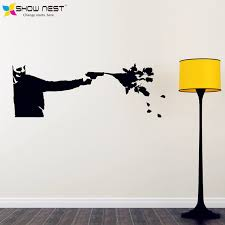 banksy wall decal vinyl sticker killing with kindness banksy art sticker home wall decor  on banksy wall art sticker with banksy wall decal vinyl sticker killing with kindness banksy art