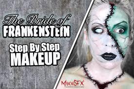 bride of frankenstein makeup step by step
