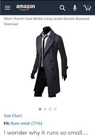 Amazon 0 Mens Trench Coat Winter Long Jacket Double