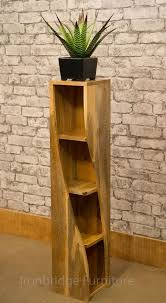 cd holders furniture. MANTIS SOLID NATURAL MANGO WOOD TWISTED BOOKCASE CD DVD STORAGE 100cm HIGH TW20A Cd Holders Furniture