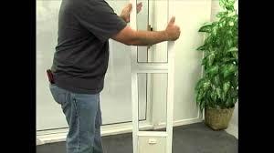 image of installing pet door for sliding glass door