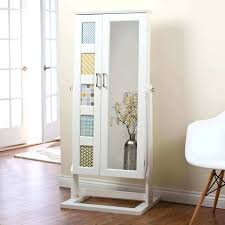 wall mirror jewelry armoire mount picture frame box luxury furniture wooden full length with grey mag