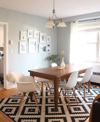 rug in dining room alluring decor inspiration e