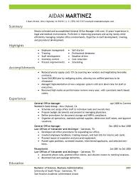 General Manager Resume Sample