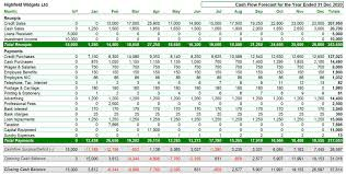 How To Do A Cash Flow Projection Cash Flow Projections Spreadsheet Templates Template Free
