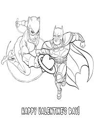 Small Picture Batman Catwoman Valentine Heart Coloring Page H M Coloring Pages