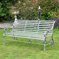 ham park metal garden bench grey