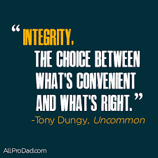 integrity when no one is watching
