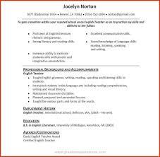 English Skill Resume Resume Online Builder