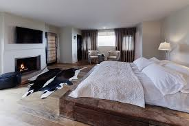 Modern bedroom in rustic style with fireplace  Ideas and inspirations to  your new home  homeidea.co
