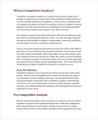 industry analysis template sample competitive analysis 6 documents in pdf word