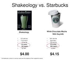 Shakeology Comparison Chart Shakeology Comparison Chart