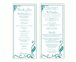 Microsoft Wedding Program Templates Free Printable Wedding Program Templates Word Diy Modern Typography
